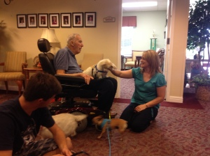 Pet therapy with SPCA of Solano County Volunteers