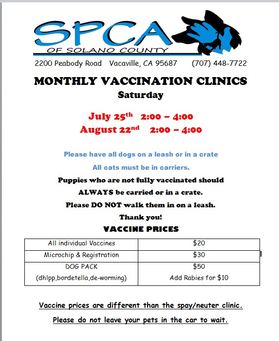 july vac clinic